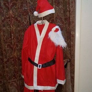 Santa Claus Costume One Size NWOT